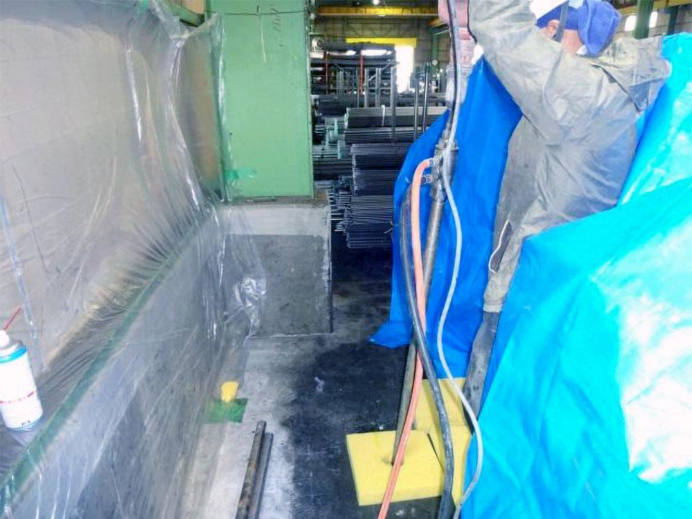 工場土間のダブルロック工法